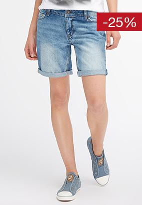 Damen #Jeanstag verwaschene Bermuda Short
